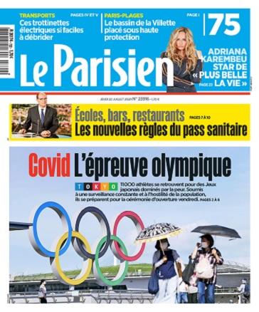 Le Parisien Du Jeudi 22 Juillet 2021