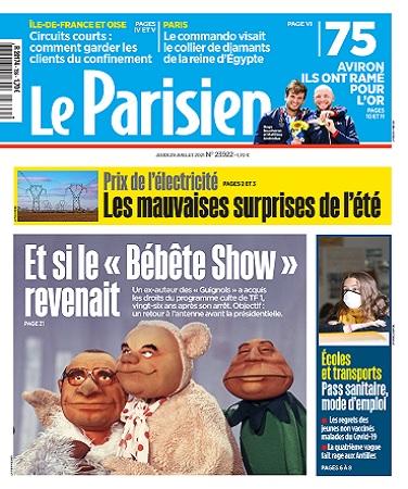 Le Parisien Du Jeudi 29 Juillet 2021