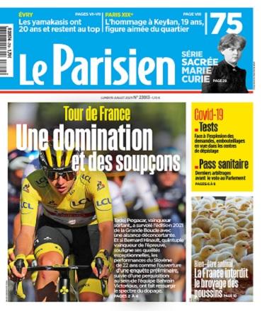 Le Parisien Du Lundi 19 Juillet 2021
