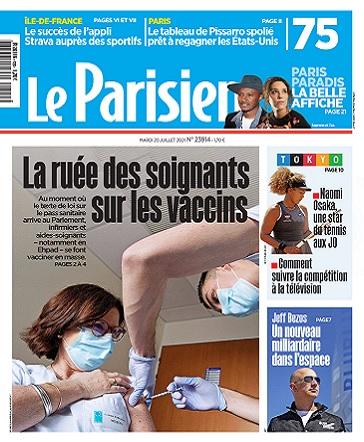 Le Parisien Du Mardi 20 Juillet 2021