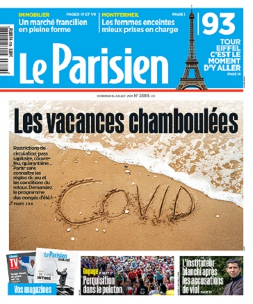 Le Parisien Du Vendredi 16 Juillet 2021