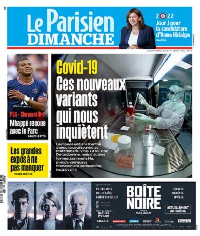 Le Parisien Du Dimanche 12 Septembre 2021