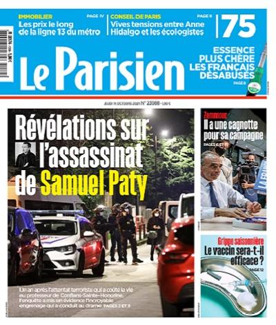 Le Parisien Du Jeudi 14 Octobre 2021