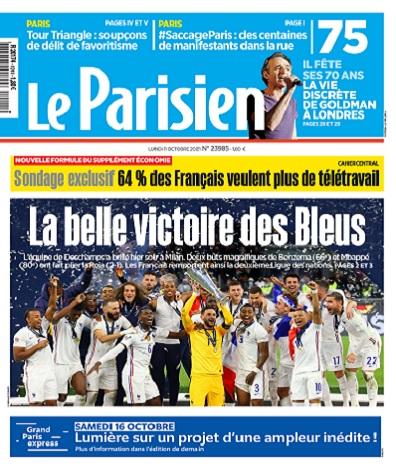 Le Parisien Du Lundi 11 Octobre 2021
