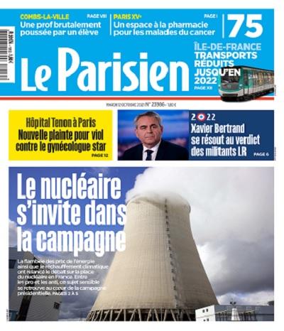 Le Parisien Du Mardi 12 Octobre 2021