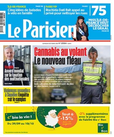 Le Parisien Du Samedi 9 Octobre 2021